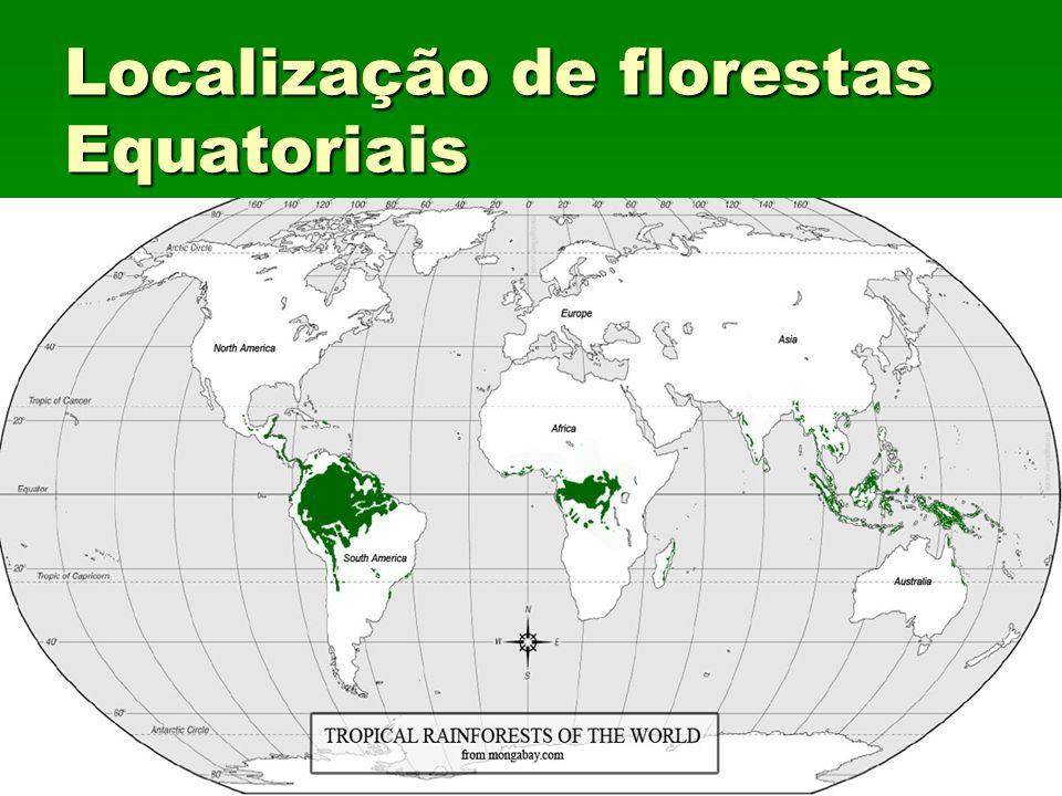 Localização de florestas Equatoriais