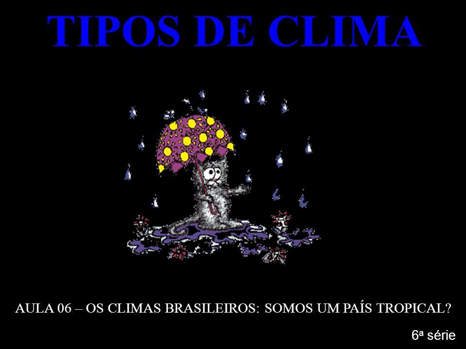TIPOS DE CLIMA AULA 06 – OS CLIMAS BRASILEIROS: SOMOS UM PAÍS TROPICAL? 6 a série