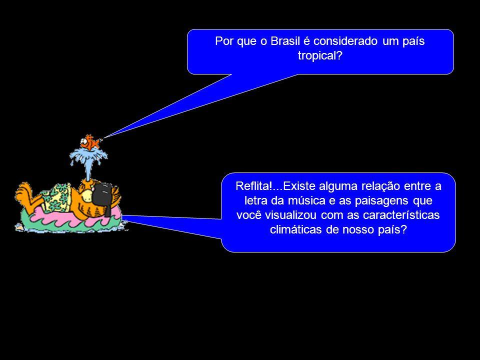 Por que o Brasil é considerado um país tropical.