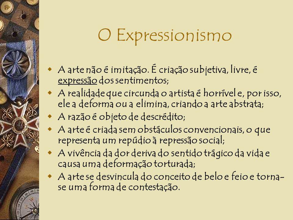 O EXPRESSIONISMO Alemanha e França (fauvismo), fins do século XIX e início do século XX. Diz Giulio Argan: o Expressionismo se põe como antítese ao Im