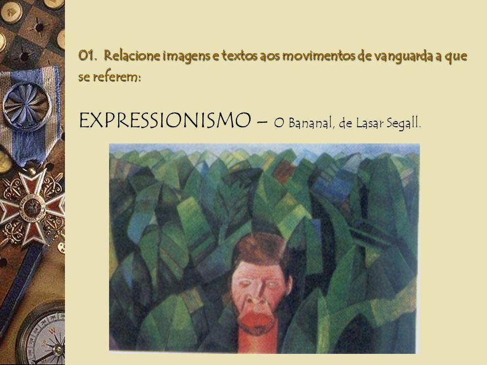 01. Relacione imagens e textos aos movimentos de vanguarda a que se referem: DADAÍSMO – A Batalha, de Ludwig Kassak.