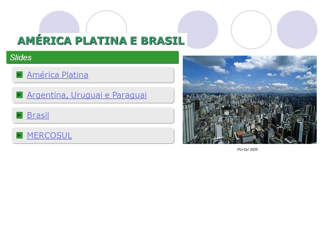 AMÉRICA PLATINA E BRASIL Slides América Platina Argentina, Uruguai e Paraguai Brasil MERCOSUL Portal SER