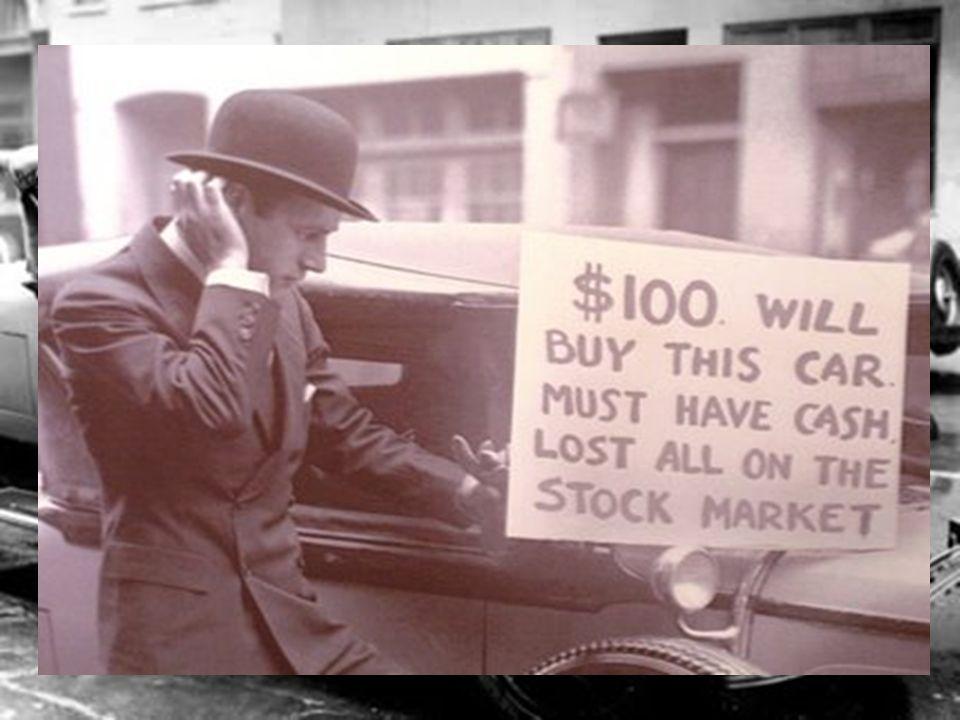 Crise de 29 Um sentimento: -Ambição Uma explicação: - Ignorância ou presunção?... só o capitalismo pode entender...