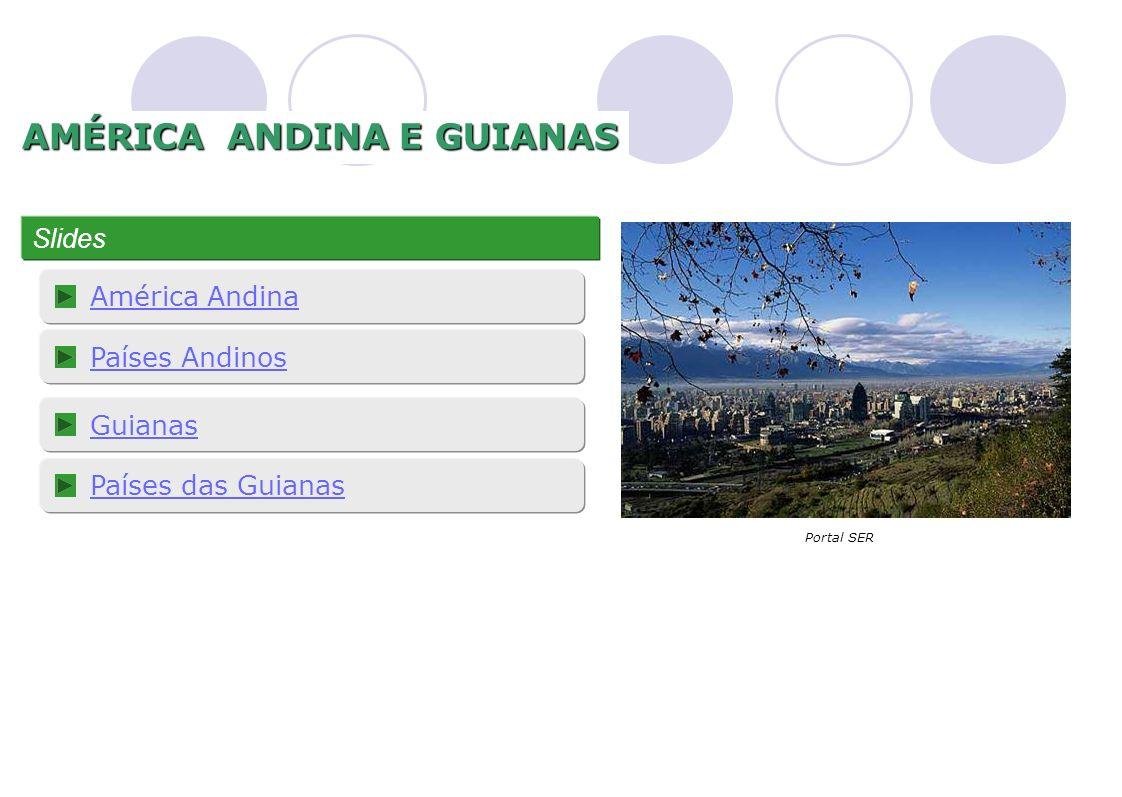 1 AMÉRICA ANDINA E GUIANAS Slides América Andina Países Andinos Guianas Portal SER Países das Guianas