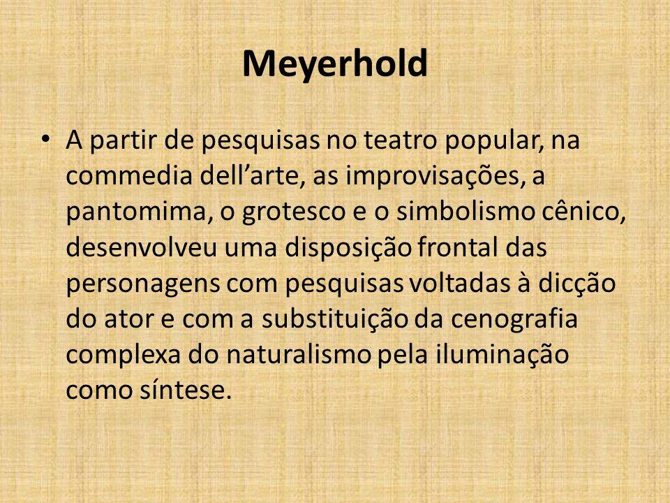 Meyerhold e Stanislavski Em 1905, Stanislavski convida Meyerhold para dirigir mais uma vez o seu Estúdio.