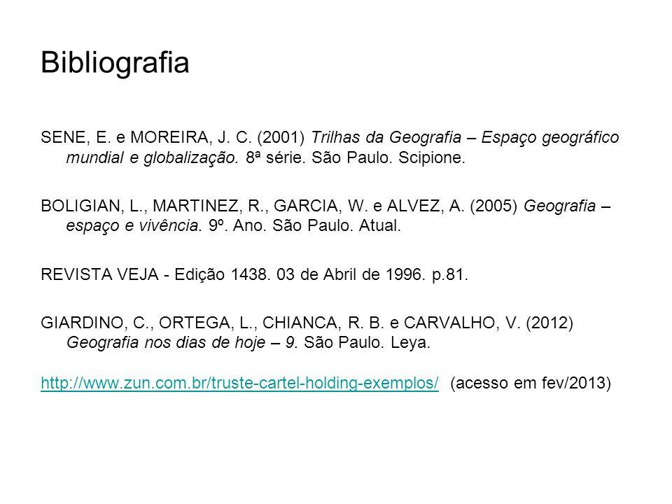 Bibliografia SENE, E.e MOREIRA, J. C.