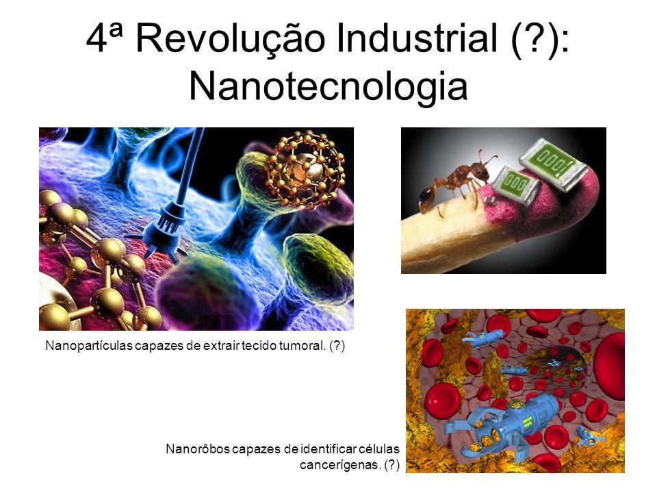 4ª Revolução Industrial (?): Nanotecnologia Nanopartículas capazes de extrair tecido tumoral.