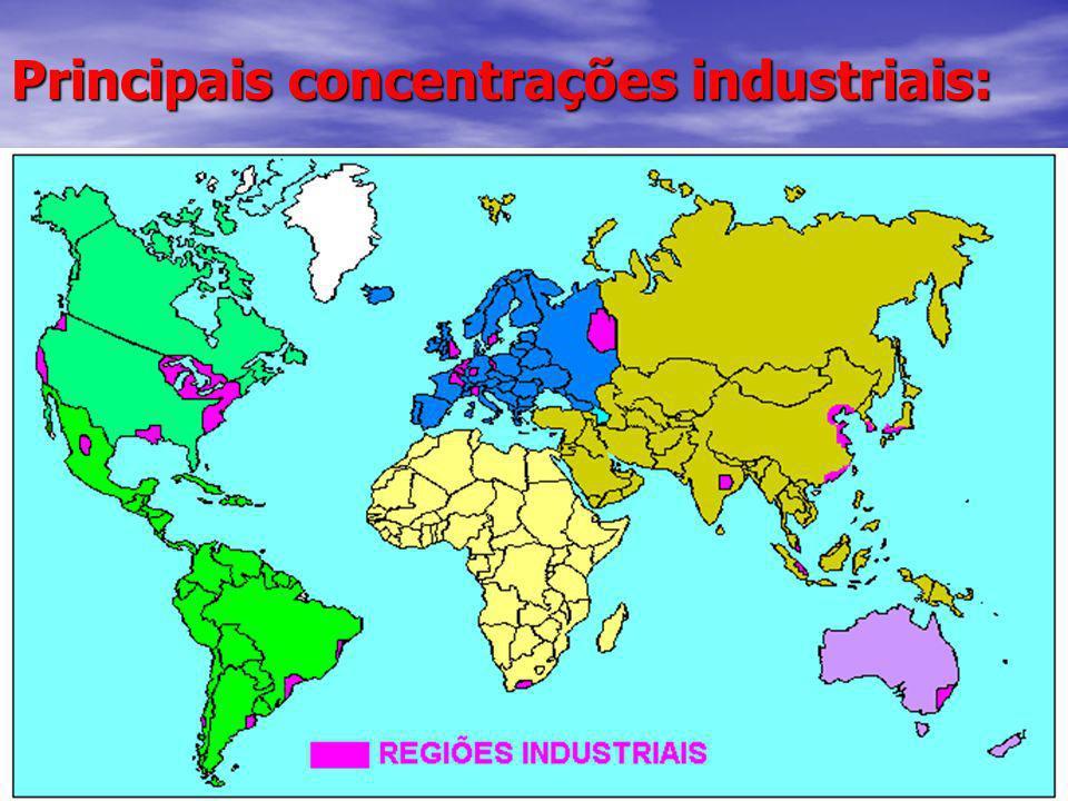 Principais concentrações industriais:
