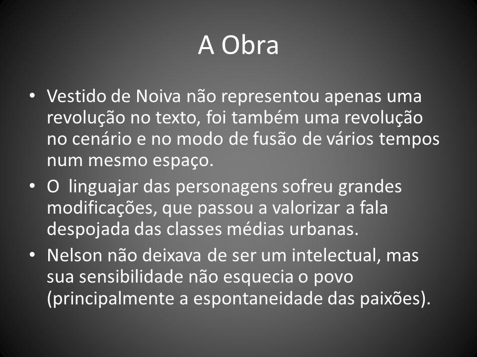 A Obra O universo dramático de Vestido de Noiva, de Nelson Rodrigues, é a classe média carioca nas imediações dos anos quarenta.