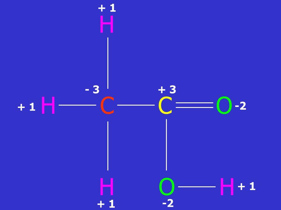 H H C C O H O H + 3 + 1 -2 - 3