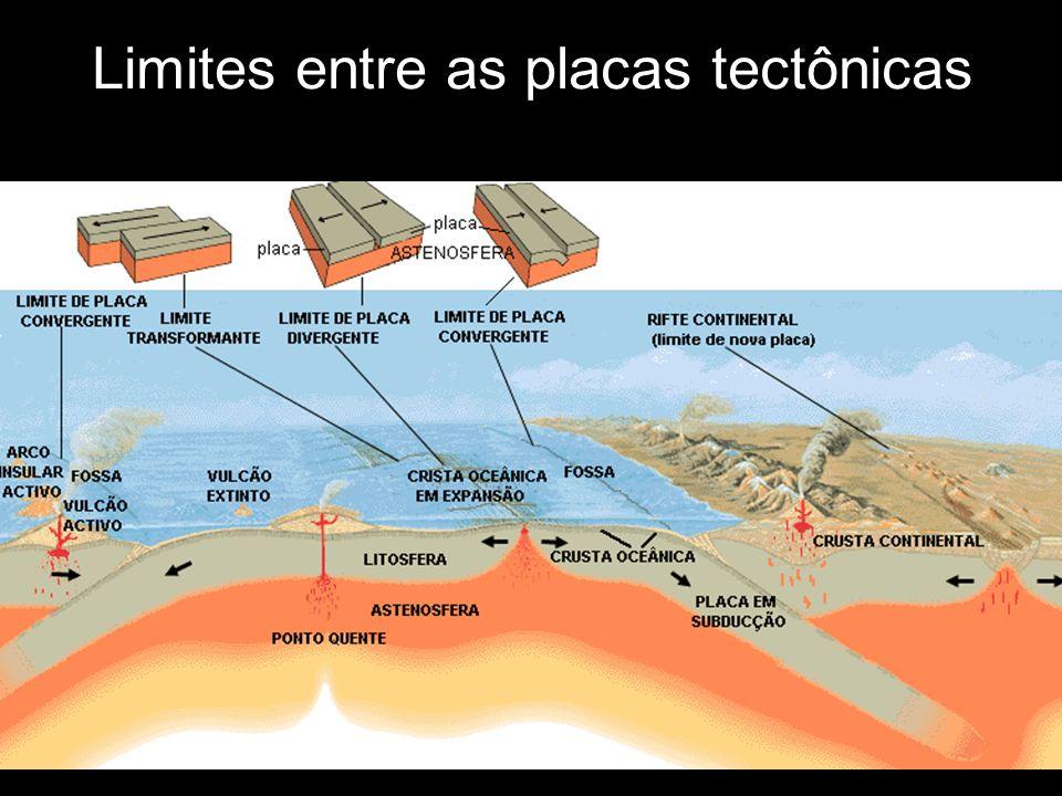 Limites entre as placas tectônicas