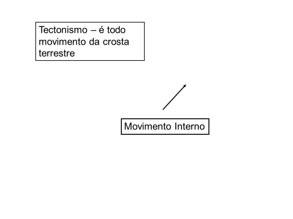 Tectonismo – é todo movimento da crosta terrestre Movimento Interno