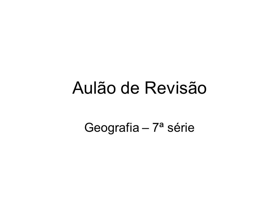 Aulão de Revisão Geografia – 7ª série