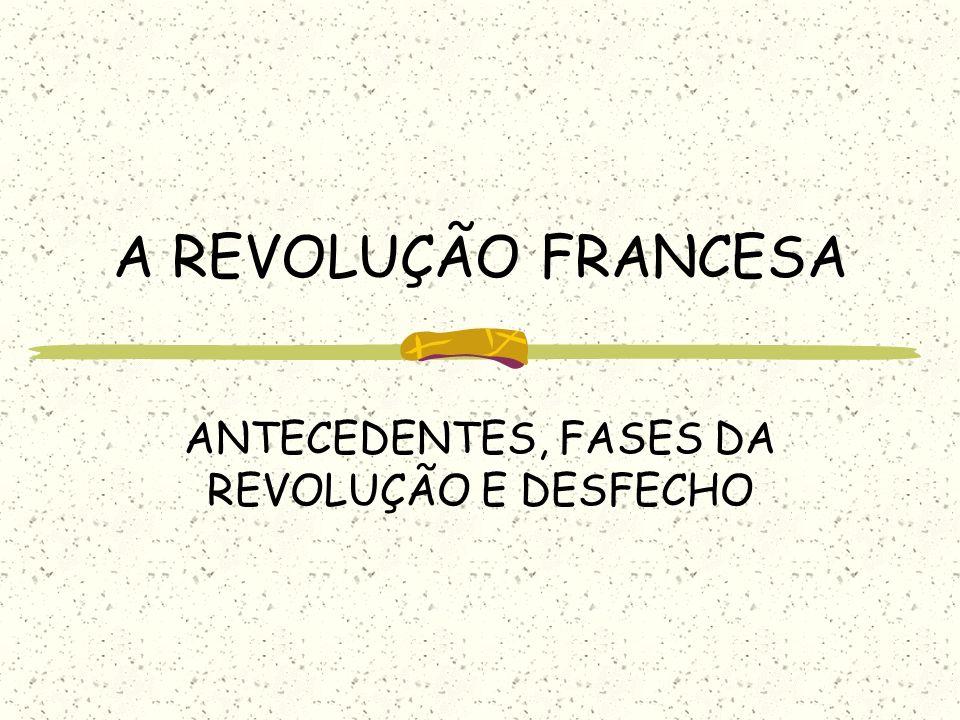 A REVOLUÇÃO FRANCESA ANTECEDENTES, FASES DA REVOLUÇÃO E DESFECHO