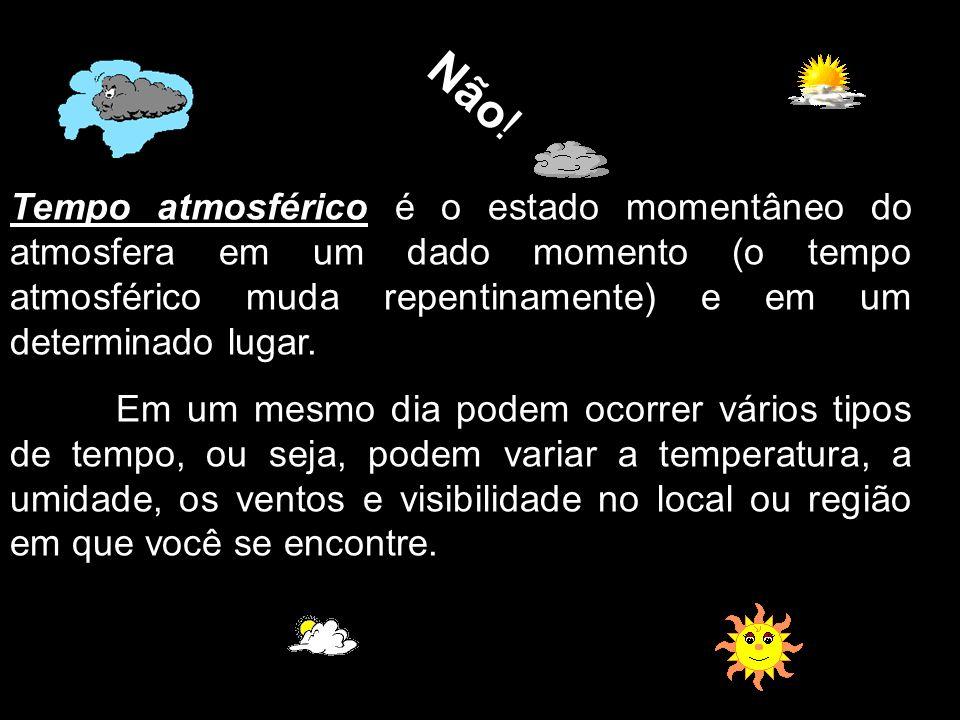 Tempo atmosférico é o estado momentâneo do atmosfera em um dado momento (o tempo atmosférico muda repentinamente) e em um determinado lugar. Em um mes