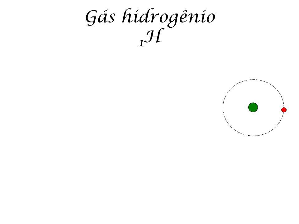 Gás hidrogênio 1 H