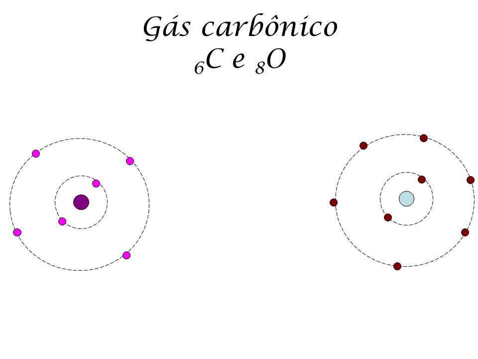 Gás carbônico 6 C e 8 O