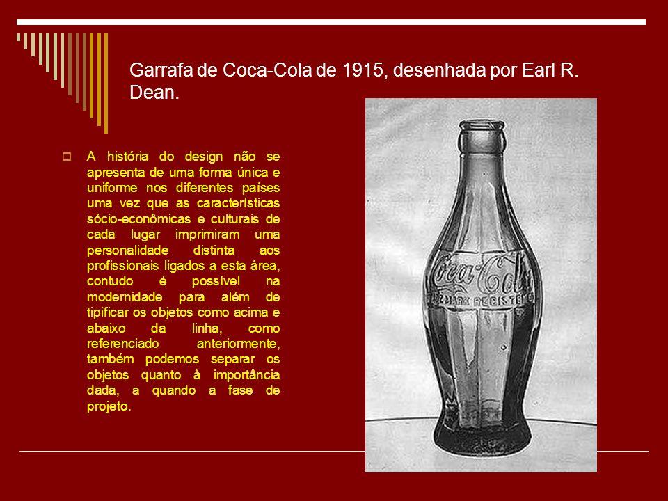 Garrafa de Coca-Cola de 1915, desenhada por Earl R.