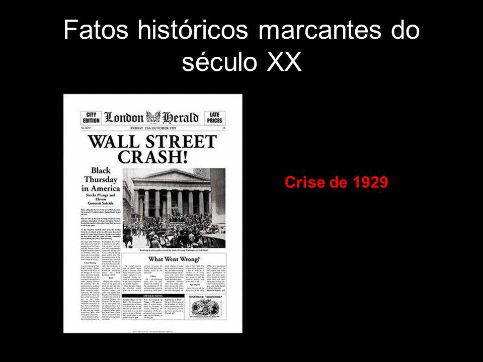Fatos históricos marcantes do século XX Crise de 1929