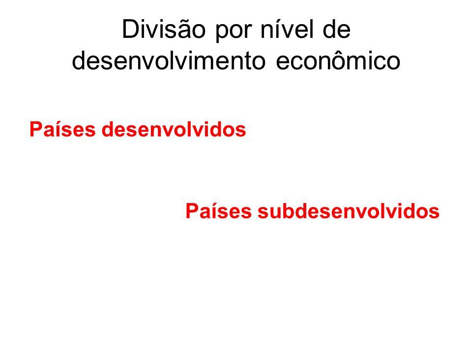 Divisão do Continente Americano Divisão fisiográfica Divisão histórico-social-econômica