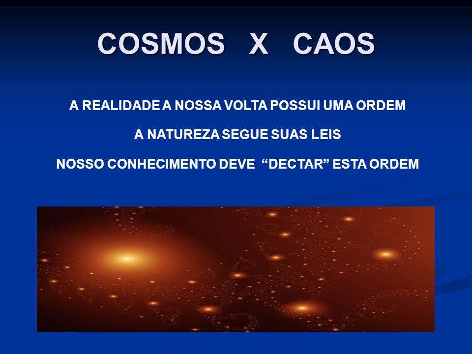 COSMOS X CAOS A REALIDADE A NOSSA VOLTA POSSUI UMA ORDEM A NATUREZA SEGUE SUAS LEIS NOSSO CONHECIMENTO DEVE DECTAR ESTA ORDEM