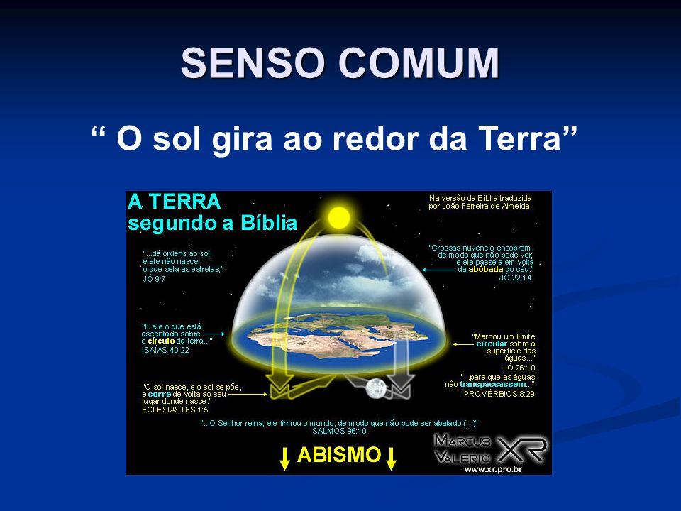 SENSO COMUM O sol gira ao redor da Terra