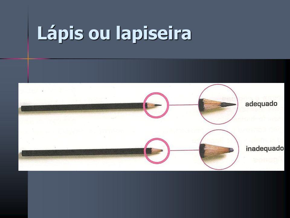 Lápis ou lapiseira
