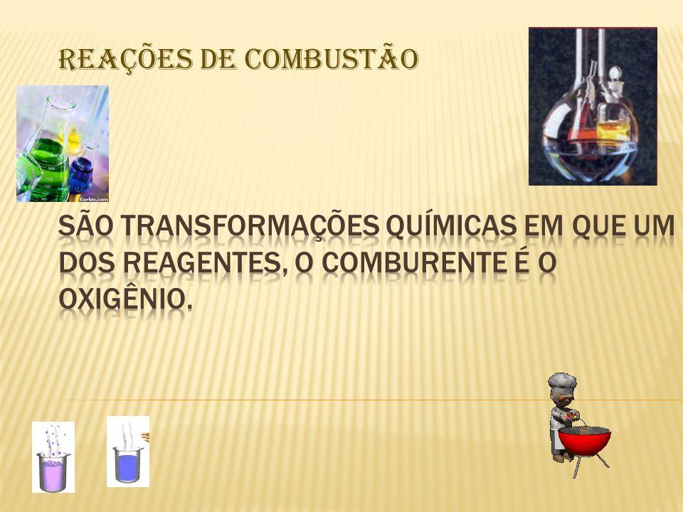 REAÇÕES DE COMBUSTÃO
