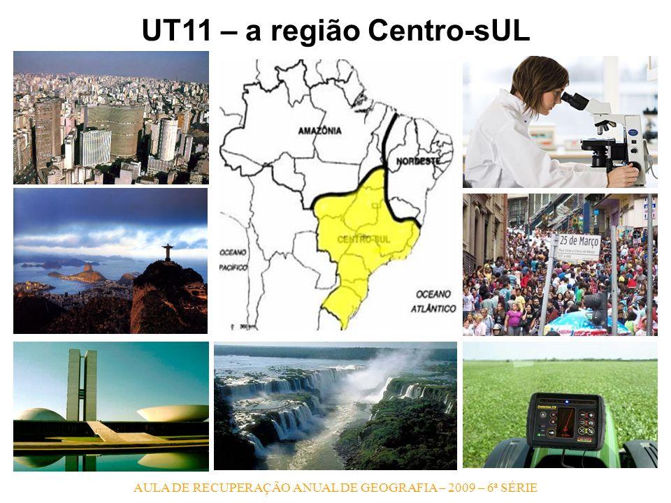 AULA DE RECUPERAÇÃO ANUAL DE GEOGRAFIA – 2009 – 6ª SÉRIE UT11 – a região Centro-sUL