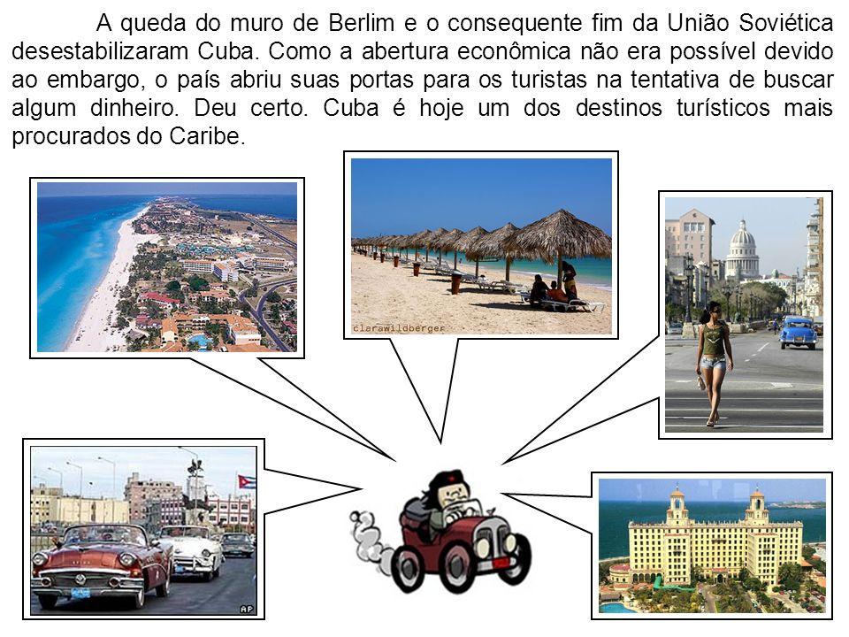 A queda do muro de Berlim e o consequente fim da União Soviética desestabilizaram Cuba. Como a abertura econômica não era possível devido ao embargo,