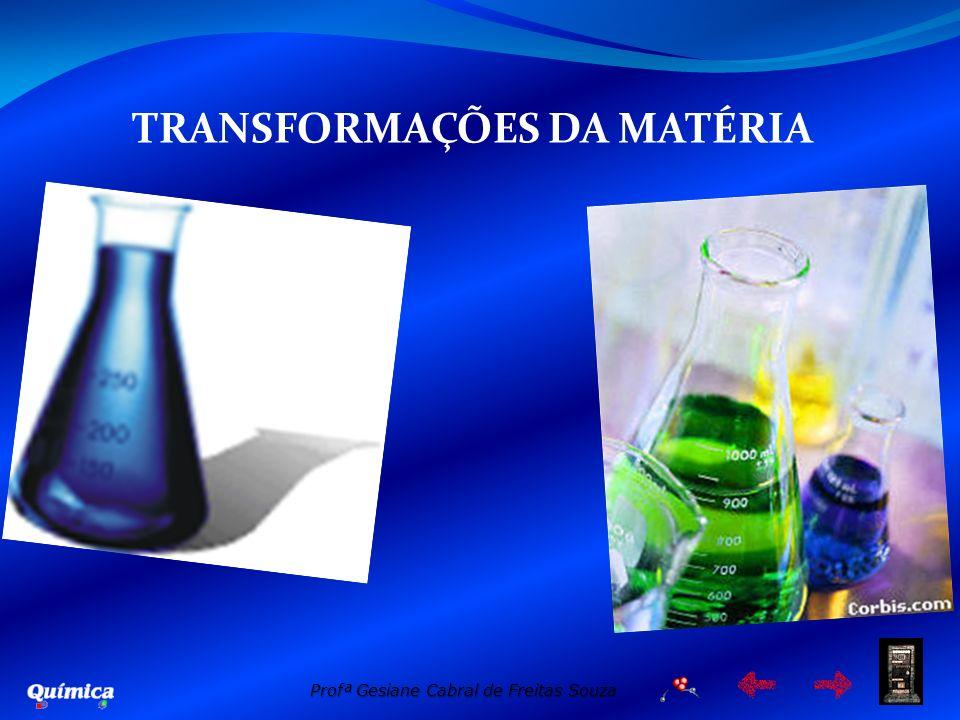 Profª Gesiane Cabral de Freitas Souza TRANSFORMAÇÕES DA MATÉRIA