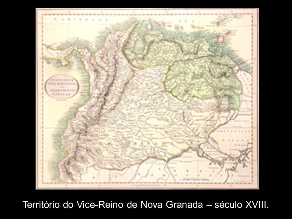 Território do Vice-Reino de Nova Granada – século XVIII.