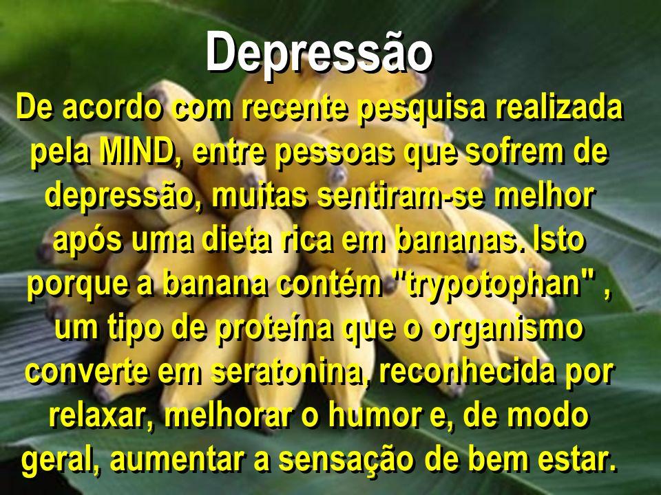 Depressão De acordo com recente pesquisa realizada pela MIND, entre pessoas que sofrem de depressão, muitas sentiram-se melhor após uma dieta rica em