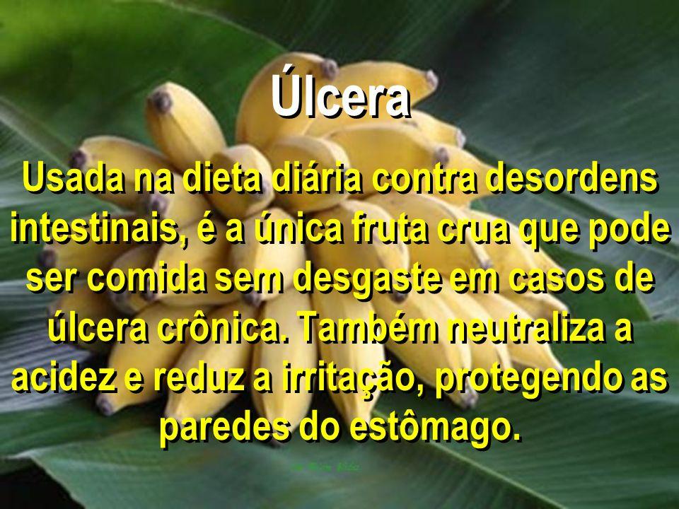 Úlcera Usada na dieta diária contra desordens intestinais, é a única fruta crua que pode ser comida sem desgaste em casos de úlcera crônica. Também ne