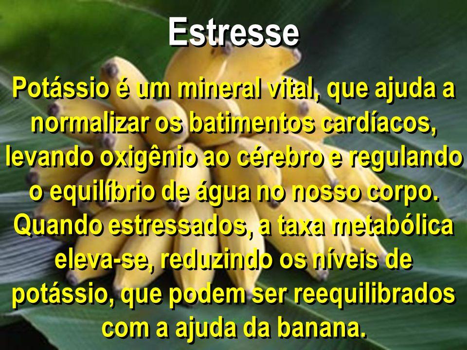 Estresse Potássio é um mineral vital, que ajuda a normalizar os batimentos cardíacos, levando oxigênio ao cérebro e regulando o equilíbrio de água no