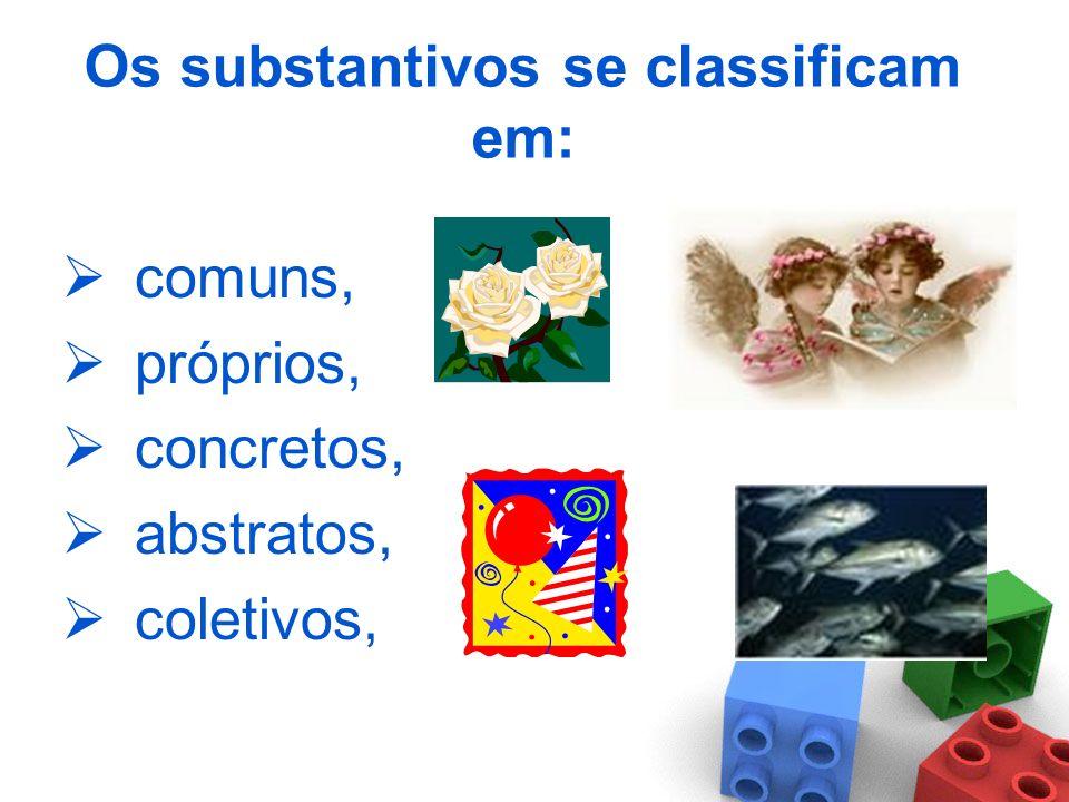 Substantivo é a palavra com que nomeamos: -lugares: sala de visita, escola, São Paulo, etc. -objetos: sofá, bola, sapato, vestido, etc. -pessoas: meni