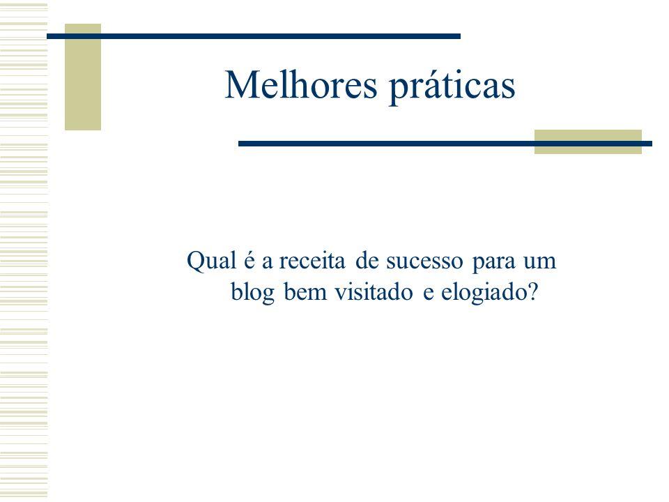 1.Informalidade O blog é uma conversa com o leitor.
