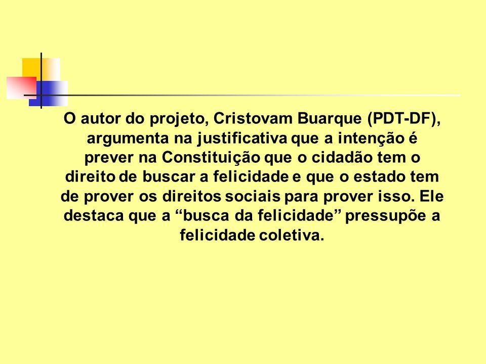 O autor do projeto, Cristovam Buarque (PDT-DF), argumenta na justificativa que a intenção é prever na Constituição que o cidadão tem o direito de busc