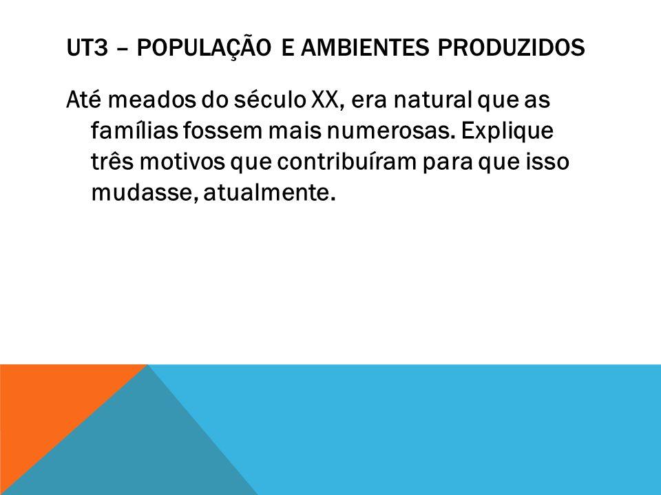 UT3 – POPULAÇÃO E AMBIENTES PRODUZIDOS O que é uma infraestrutura urbana.
