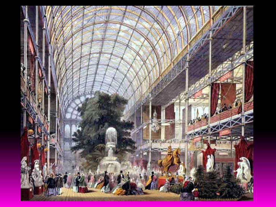 Literalmente Palácio de Cristal Joseph Paxton Joseph Paxton Foi uma enorme construção em ferro fundido e vidro erguido no Hyde Park, em Londres, para albergar a Grande Exposição de 1851.