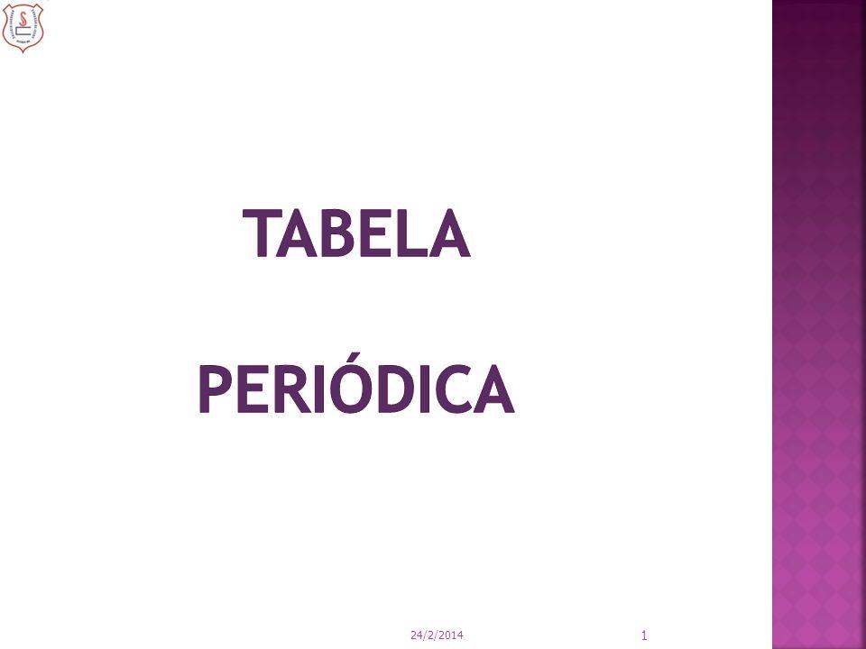 É a disposição sistemática de todos os elementos químicos existentes (naturais ou sintéticos) na forma de uma tabela, em função de suas propriedades químicas e físicas.