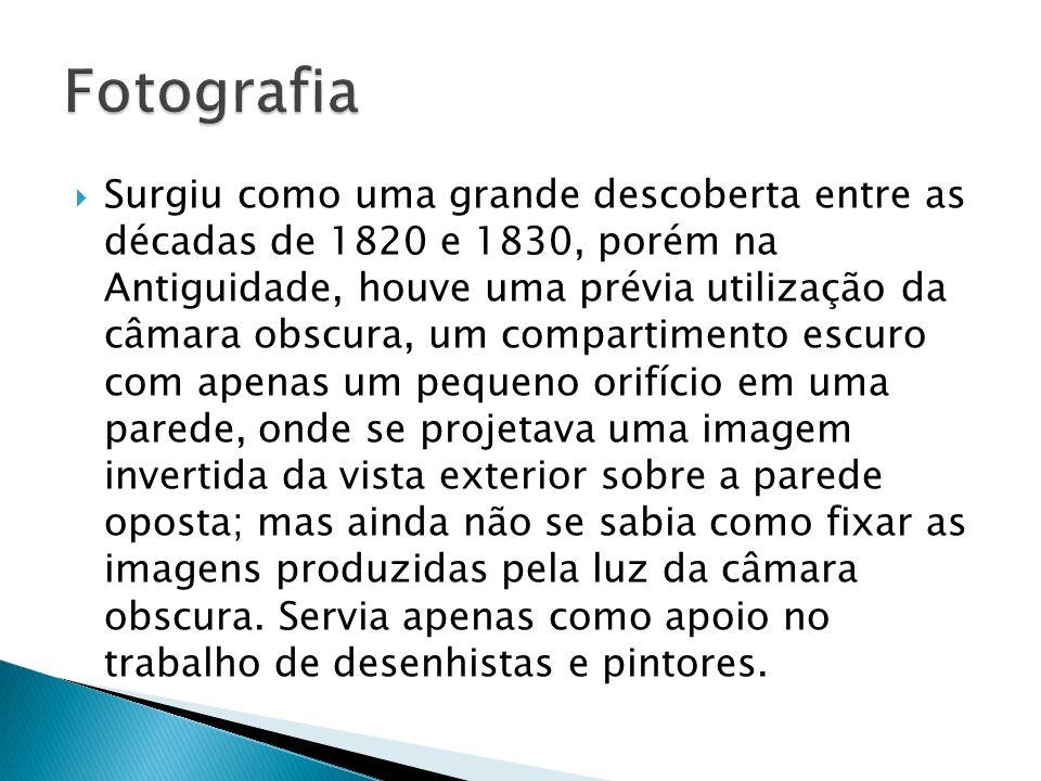 Surgiu como uma grande descoberta entre as décadas de 1820 e 1830, porém na Antiguidade, houve uma prévia utilização da câmara obscura, um compartimen