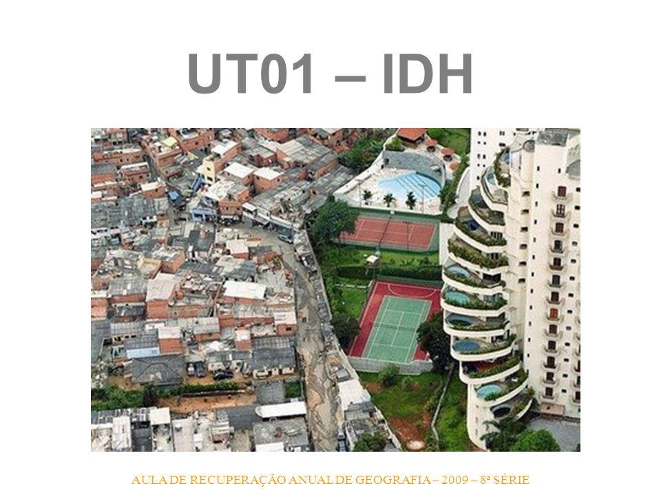 AULA DE RECUPERAÇÃO ANUAL DE GEOGRAFIA – 2009 – 8ª SÉRIE UT13 – PAÍSES COM BAIXO IDH 1.