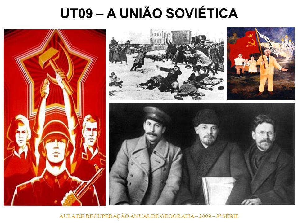 AULA DE RECUPERAÇÃO ANUAL DE GEOGRAFIA – 2009 – 8ª SÉRIE UT09 – A UNIÃO SOVIÉTICA