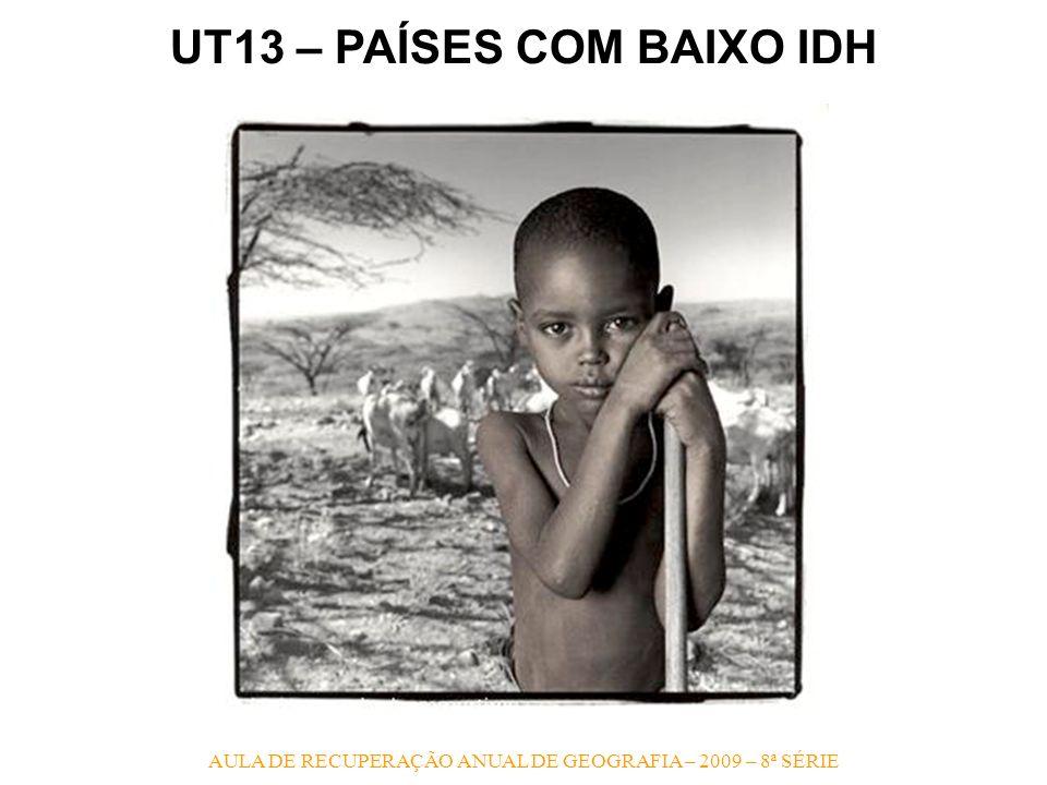 AULA DE RECUPERAÇÃO ANUAL DE GEOGRAFIA – 2009 – 8ª SÉRIE UT13 – PAÍSES COM BAIXO IDH