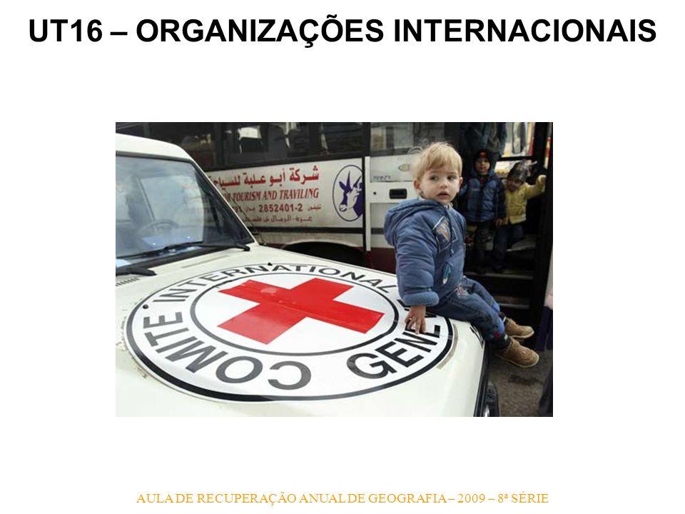 UT16 – ORGANIZAÇÕES INTERNACIONAIS AULA DE RECUPERAÇÃO ANUAL DE GEOGRAFIA – 2009 – 8ª SÉRIE