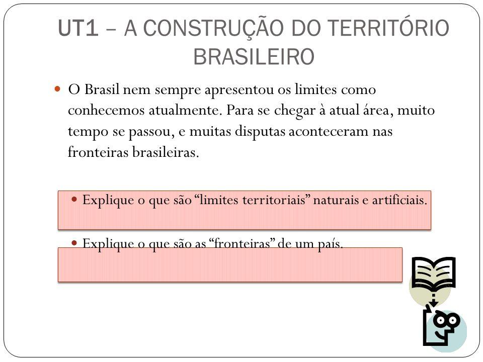 O Brasil nem sempre apresentou os limites como conhecemos atualmente. Para se chegar à atual área, muito tempo se passou, e muitas disputas acontecera