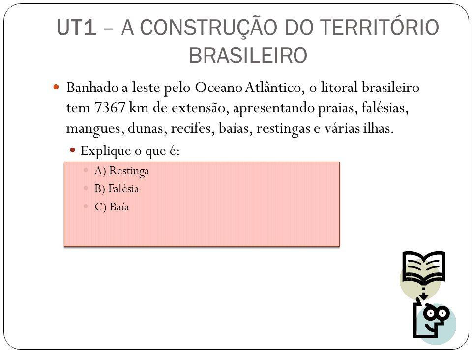 Banhado a leste pelo Oceano Atlântico, o litoral brasileiro tem 7367 km de extensão, apresentando praias, falésias, mangues, dunas, recifes, baías, re