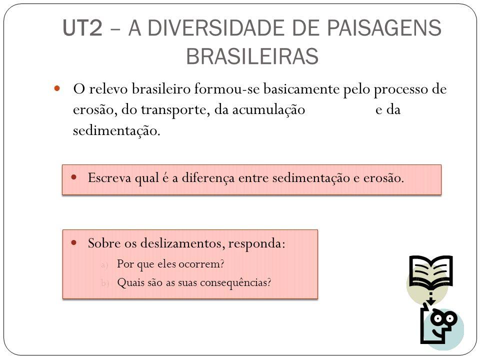 O relevo brasileiro formou-se basicamente pelo processo de erosão, do transporte, da acumulação e da sedimentação. Escreva qual é a diferença entre se