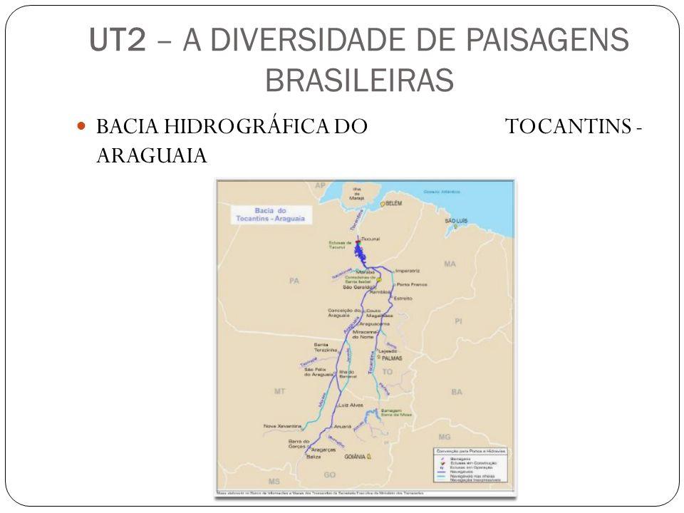 UT2 – A DIVERSIDADE DE PAISAGENS BRASILEIRAS BACIA HIDROGRÁFICA DO TOCANTINS - ARAGUAIA
